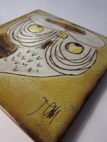 chelsea pottery owl tile