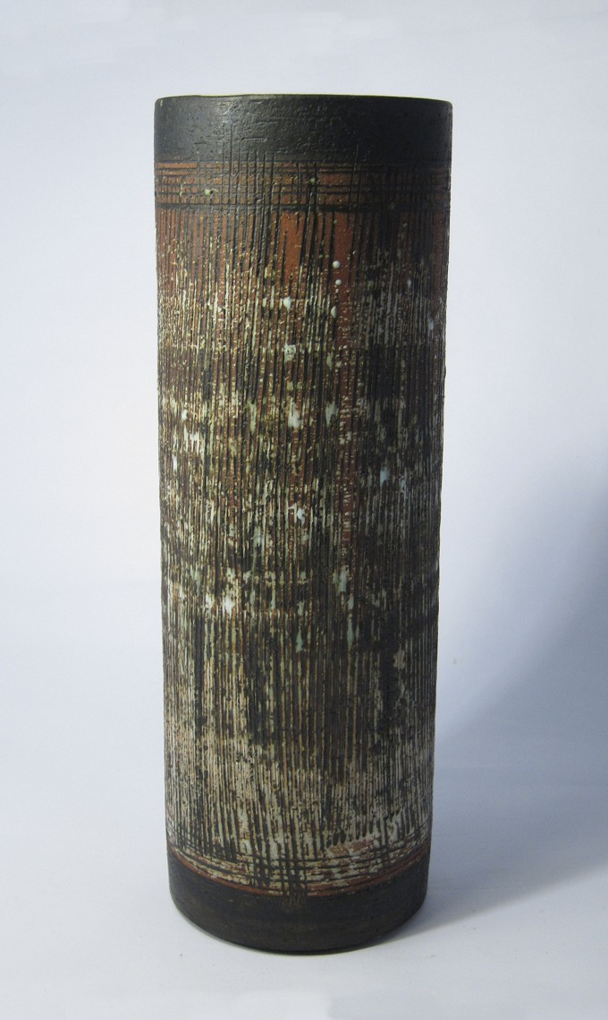 Briglin Pottery Tall Textured Vase Briglin